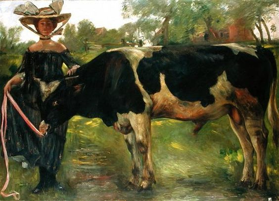 charlotte berend with a bull by lovis corinth 1902