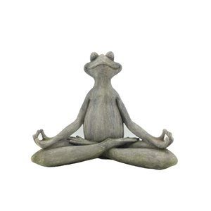 Meditating Frog Statue In 2020 Frog Statues Outdoor Statues Garden Statues