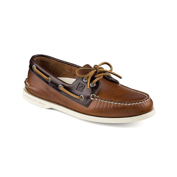 Authentic Original Cyclone Leather 2-Eye Boat Shoe in Tan | Stuff ...