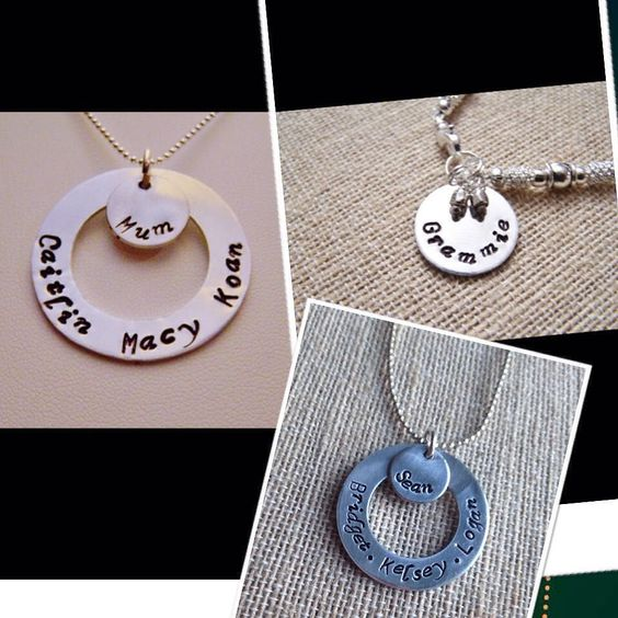 #handstamped #pendant #personalized #giftideas  #etsy #etsyshop #etsyfinds #earlyholidayshopping Link in my Bio