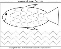 math worksheet : curved and zig zag line tracing worksheet  printable worksheets  : Tracing Lines Worksheets For Kindergarten