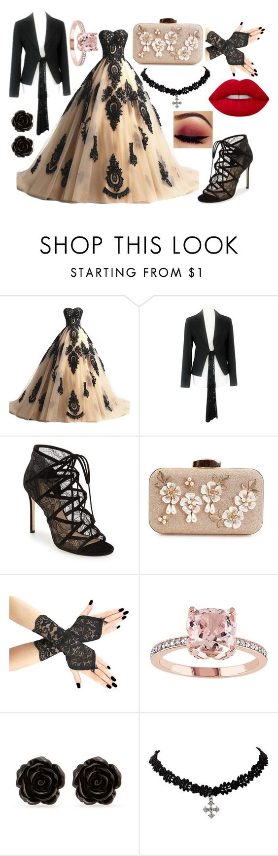 """Prom Badass"" by nikowolfcat ❤ liked on Polyvore featuring Più & Più, Pour La Victoire, Erica Lyons and Lime Crime"