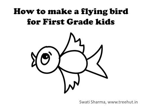 How To Draw A Flying Bird For 1st Grade Kids Video Is Step By Step Easy Drawing For Kids Drawing Videos For Kids Drawing For Kids Easy Drawings For Kids