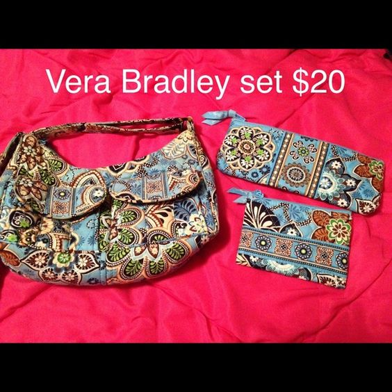Selling this Vera Bradley Bali blue with wallet in my Poshmark closet! My username is: xansgirl. #shopmycloset #poshmark #fashion #shopping #style #forsale #Vera Bradley #Handbags