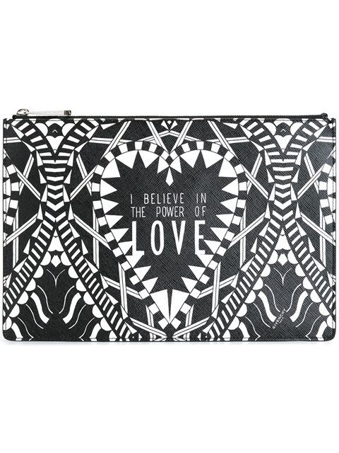 GIVENCHY Power Of Love Printed Clutch. #givenchy #bags #clutch #polyester #hand bags #