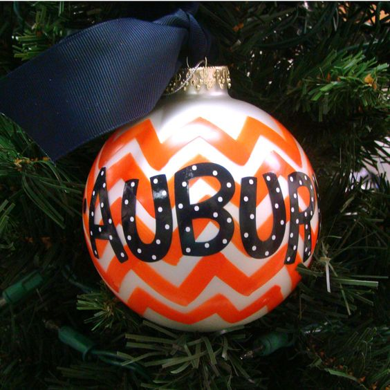 Ornament, Chevron Au Tigers | Auburn University Bookstore