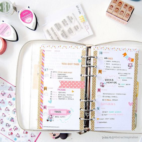 Such a simple and lovely page by Zinia @abstractinspiration using some of @findingnanashop August planner kit. by findingnanashop