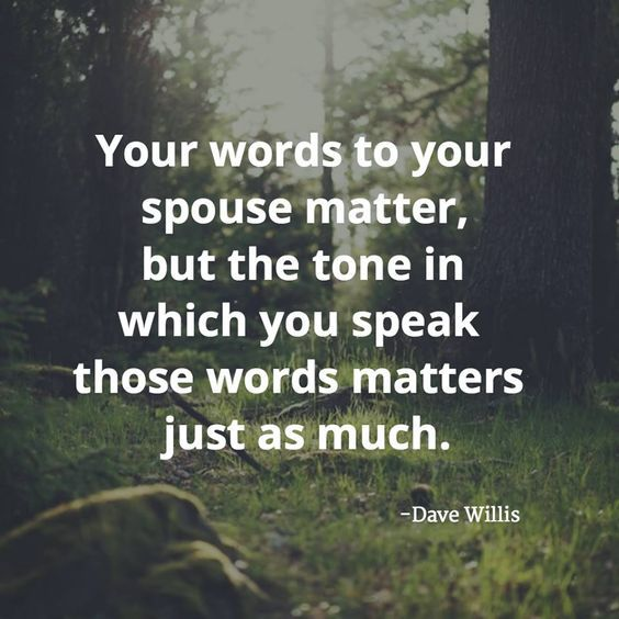 Dave Willis marriage quote quotes your words to your spouse matter but the tone…
