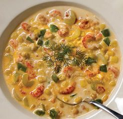 Crawfish and Corn Soup! Ingredients are simple!