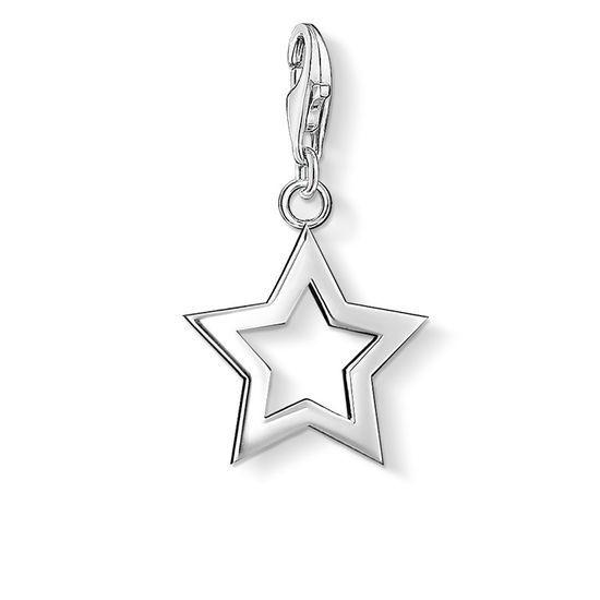 Thomas Sabo Womens 925 Sterling Silver Charm Triangle Club Pendant