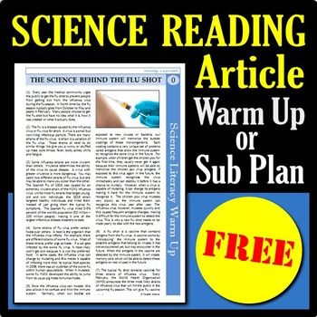 Science Reading Article - The Science Behind the Flu Shot ...