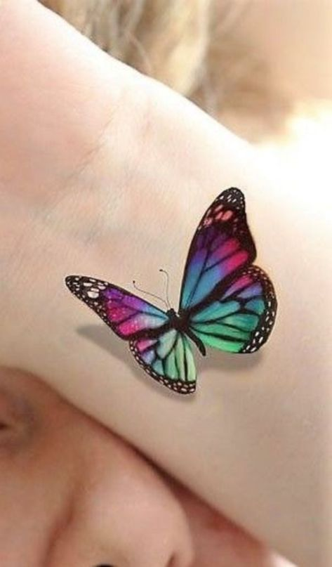 45 Cool 3d Tattoo Ideas For Men And Women Colorful Butterfly Tattoo 3d Butterfly Tattoo Realistic Butterfly Tattoo