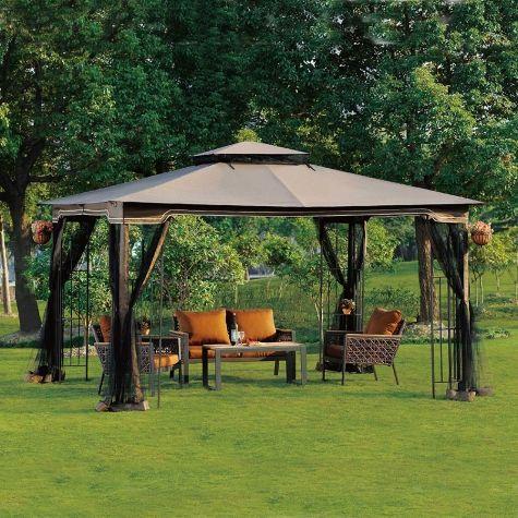 Regency 10 X 12 Gazebo With Netting Outdoor Gazebos Canopy Outdoor Backyard Gazebo