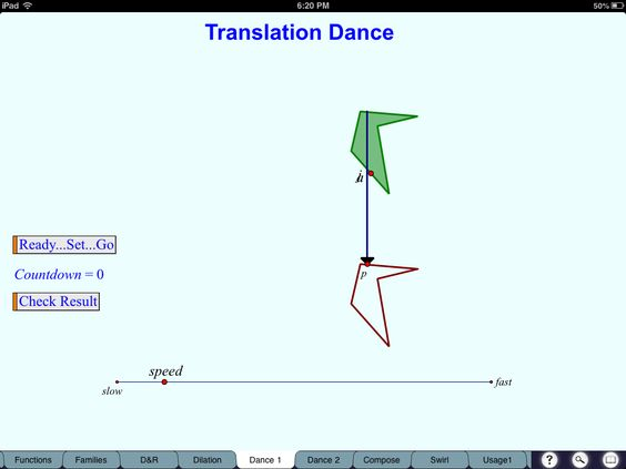 Function transformations intro, using Sketchpad and dances