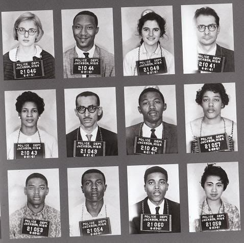 In 1961, Africian American and white volunteers, many of whom were college students traveled into the South to draw attention to its refusal to integrate bus terminals. These teams were called Freedom Riders.