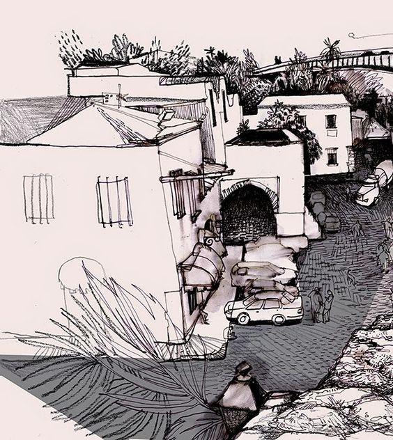 Urban Sketchers: SANTA BARBARA, Ancient Colonial Slave Quarters