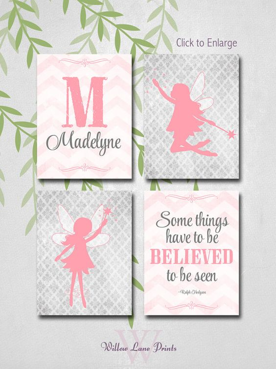 kids wall art, fairy baby nursery decor, little girls room art