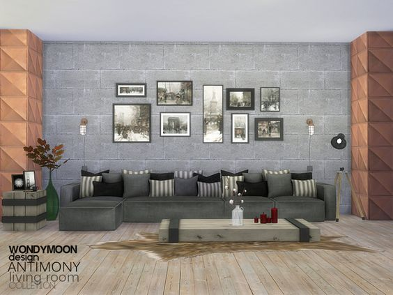 Sulfure zen living room by jomsims at TSR via Sims 4 Updates - sims 3 wohnzimmer modern