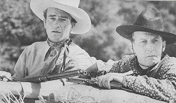 John Wayne and Raymond Hatton in New Frontier (1939)
