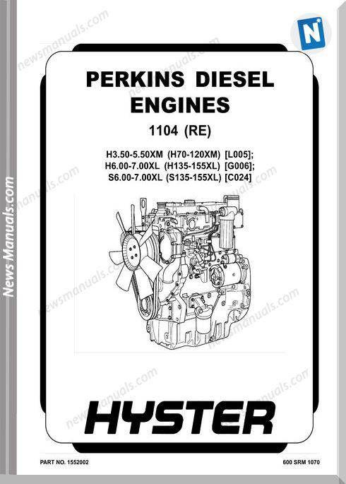 Perkins Diesel Engine 1104 Re Repair Manual Diesel Engine Repair Manuals Repair