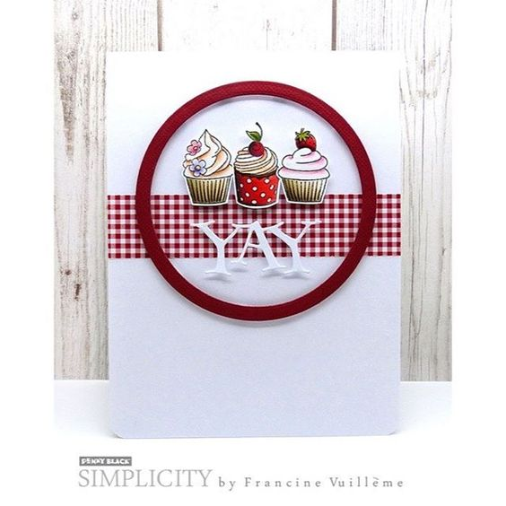 This is my latest Penny Black DT card! I used the 'Cupcake' set and the 'Well…