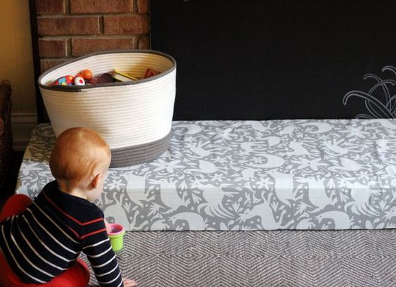 diy padded hearth cover for baby proofing