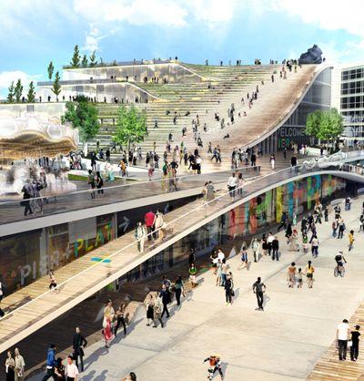 BIG architects + AECOM: chicago navy pier proposal