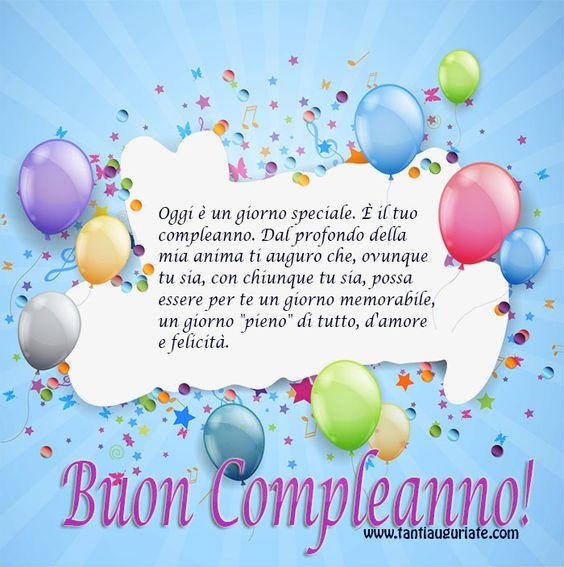 Favori Buon Compleanno | biglietti augurali | Pinterest | Happy birthday UV63