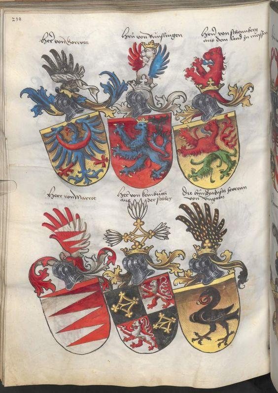 Grünenberg, Konrad: Das Wappenbuch Conrads von Grünenberg, Ritters und Bürgers zu Constanz um 1480 Cgm 145 Folio 215