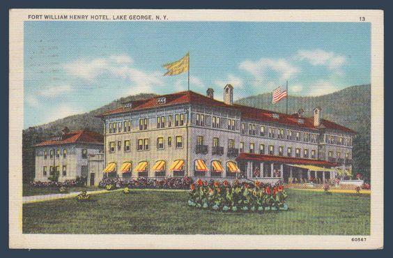 Postcards - United States #  909 - Fort William Henry Hotel, Lake George, New York
