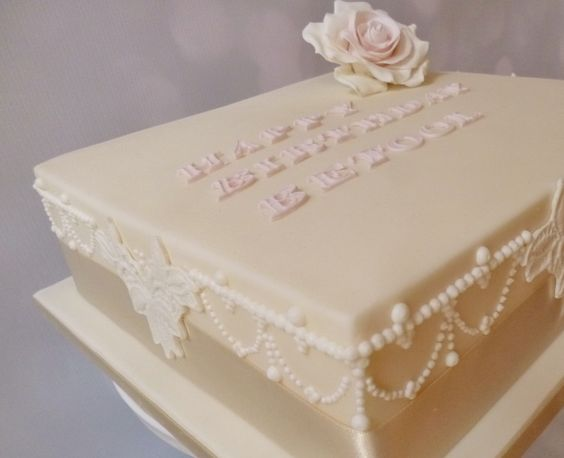 Hand Piped Birthday Cake by Caroline's Cake Company, Sale, Cheshire