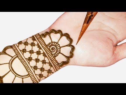 simple mehndi designs right hand