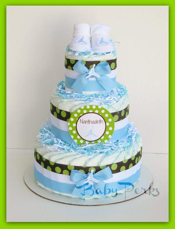 air jordan diaper cake any colors baby shower decorations blue