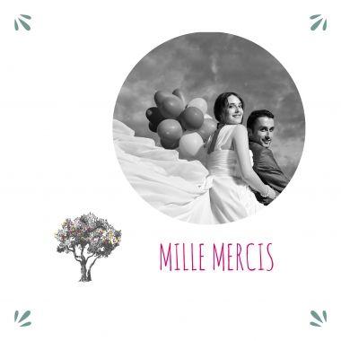 carte de remerciements mariage larbre du bonheur httpwww - Modele Carte Remerciement Mariage
