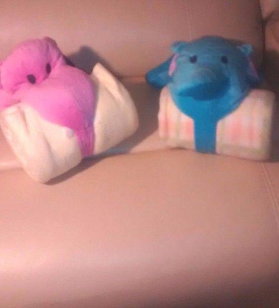 2 Hippo and Elephant Fleece Blanket,Plush Animal Cozy Palz Combo for Boy/Girl #CozyPalz