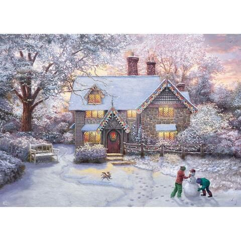Thomas Kincaid Christmas Puzzle 2020 Ceaco® Christmas at Gingerbread House Jigsaw Puzzle $9.99 in 2020