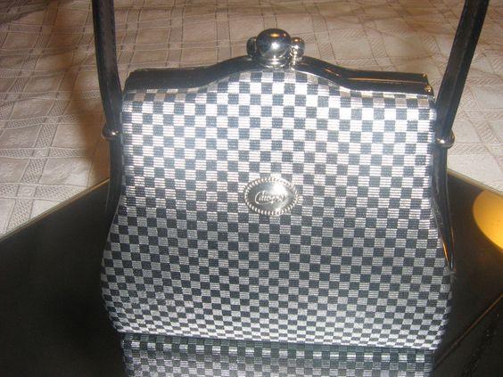 Vintage Candies Purse Black And White Handbag  Retro. $25.00, via Etsy.