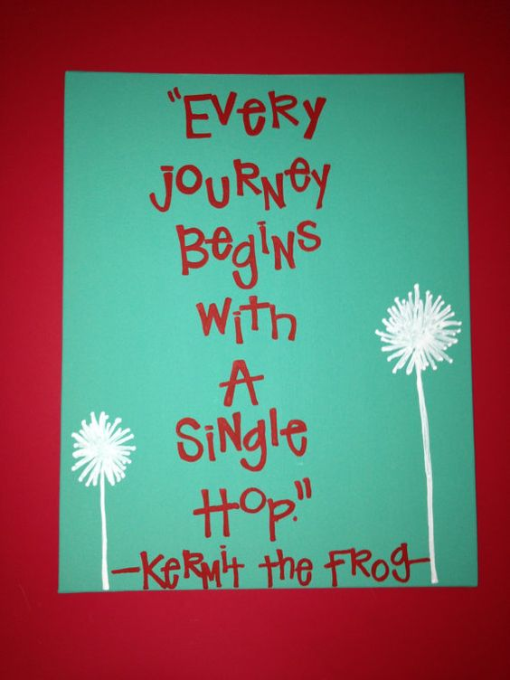 Kermit the Frog Quote on Canvas