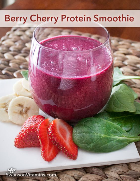 Berry Cherry Protein Smoothie | Tart cherry juice, Almonds ...