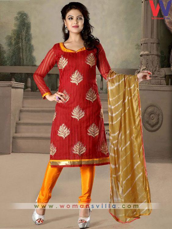 Beautiful Maroon Colour Cotton Salwar Suit #Womansvilla