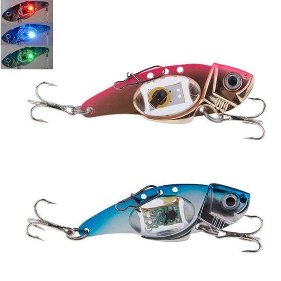zanlure vib 80mm 32g flash led light bait fishing lure light, Reel Combo