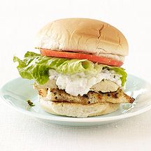 """Greek Grilled Chicken Sandwich: """"All of the elements of a Greek salad but served on a bun. The creamy feta spread would be great over baked potatoes."""""""