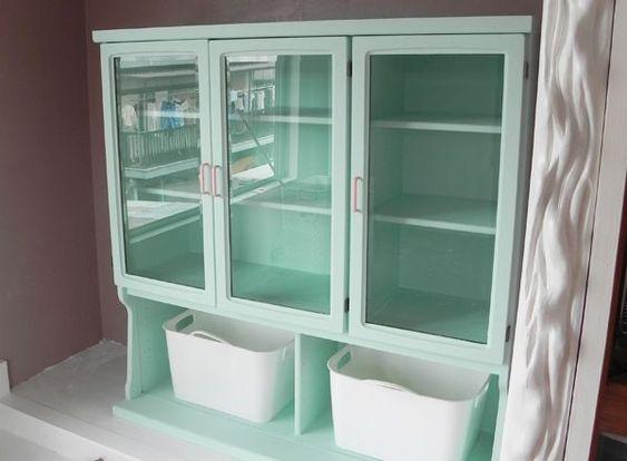食器棚 リメイク ペンキ | miyaFleurさんの作品『食器棚を ...