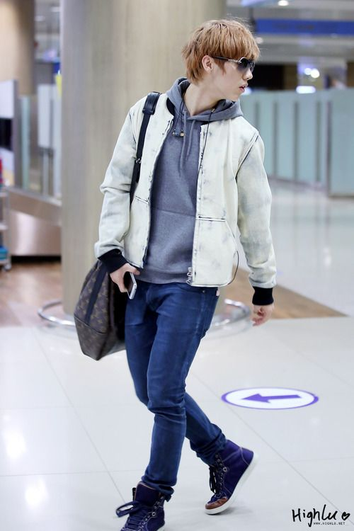 Luhan, Airport fashion and Exo on Pinterest