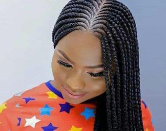 Braided Wigs Cornrow Braid Wig Cornrow Braided Wigs Box Etsy In 2020 African Hair Braiding Styles African Braids Hairstyles Braids Hairstyles Pictures