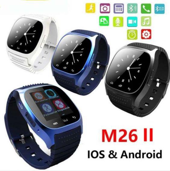 . Reloj Bluetooth Smart impermeable SmartWatch M26 con LED Alitmeter reproductor…
