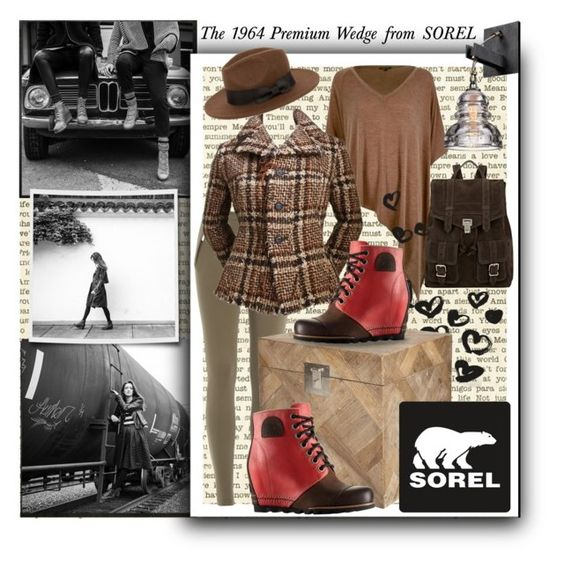 """The 1964 Premium Wedge from SOREL: Contest Entry"" by parkersam76 ❤ liked on Polyvore featuring SOREL, River Island, Proenza Schouler, Emilio Pucci, Junya Watanabe Comme Des Garcons, OKA, polyvoreeditorial and sorelstyle"