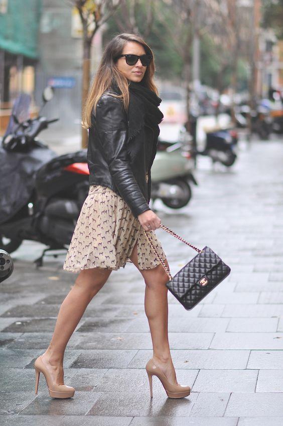 lady rock walking in the city