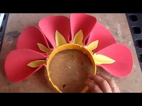 Disfraz: Flor (Diadema con petalos) - YouTube