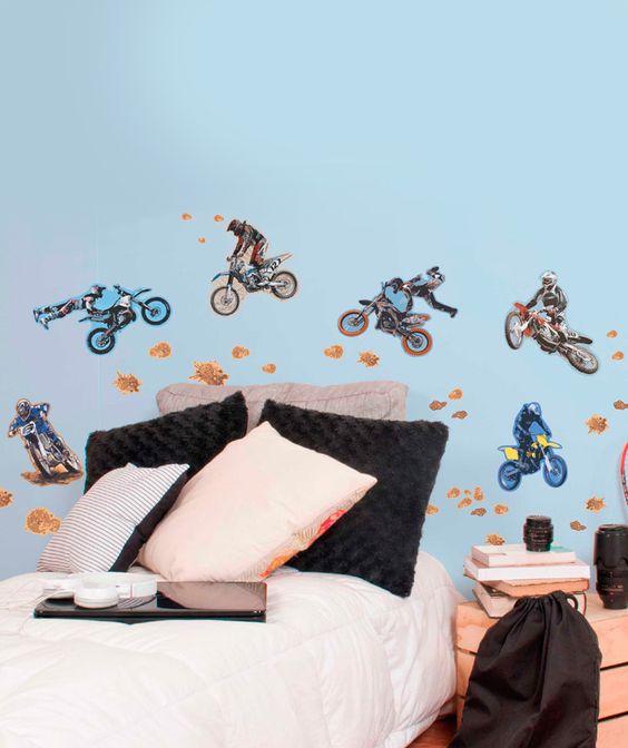 Motos vinilo adhesivo decoraci n de paredes for Decoracion paredes vinilos adhesivos